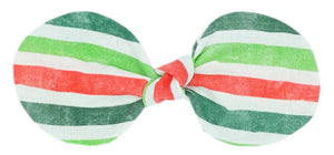Christmas Stripes Bow