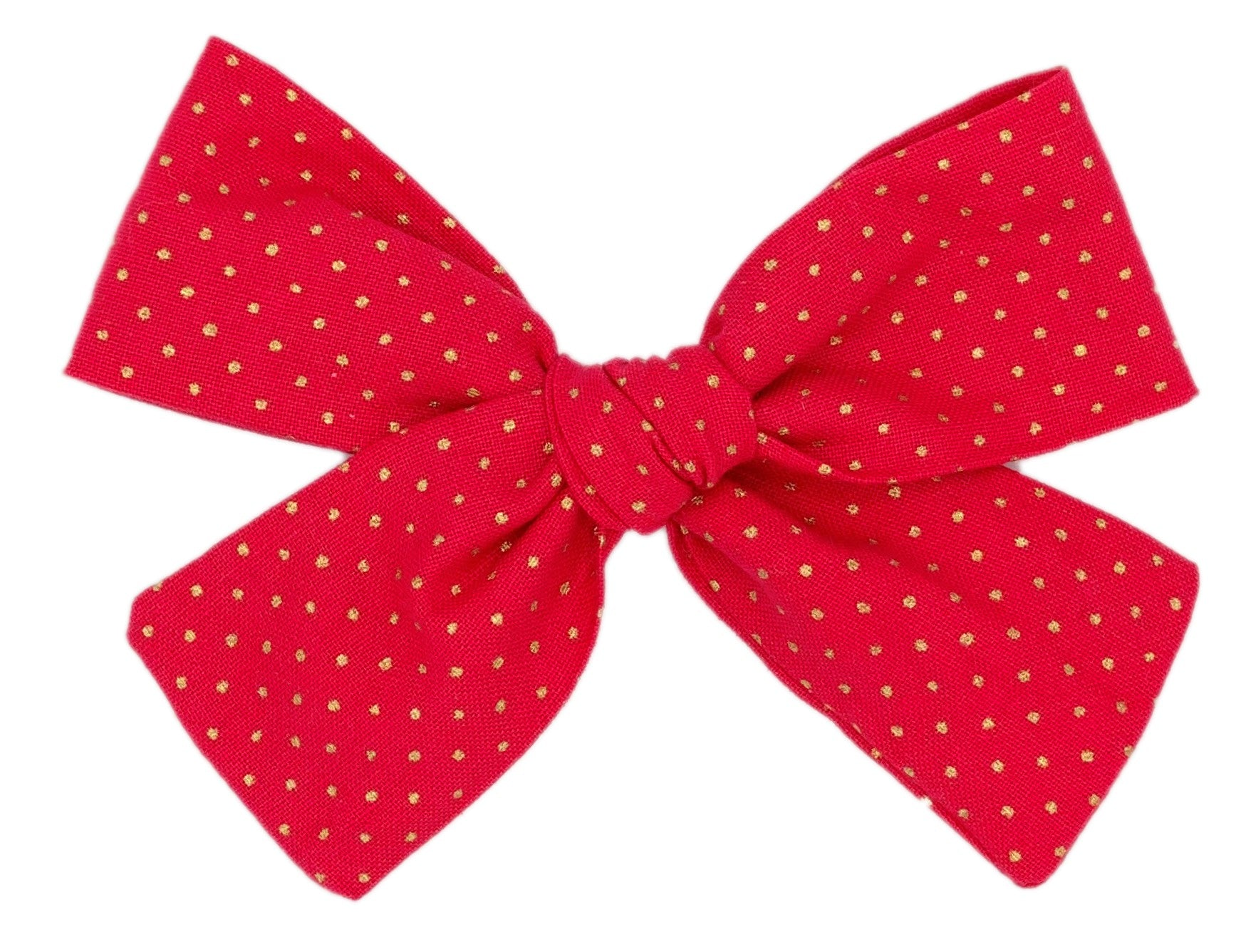 Red with Gold Polka Dot Bow