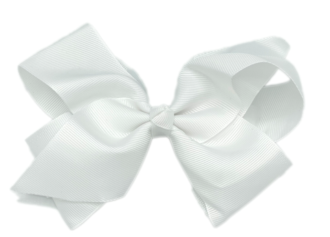 White Large Hair Bow
