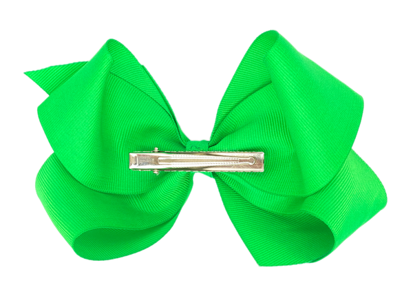 Green Large Hair Bow