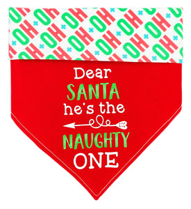 He's The Naughty One Reversible Dog Bandana