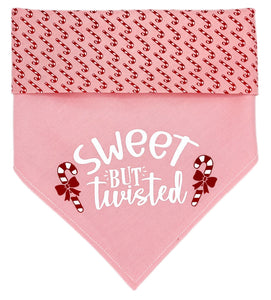 Sweet But Twisted Reversible Dog Bandana