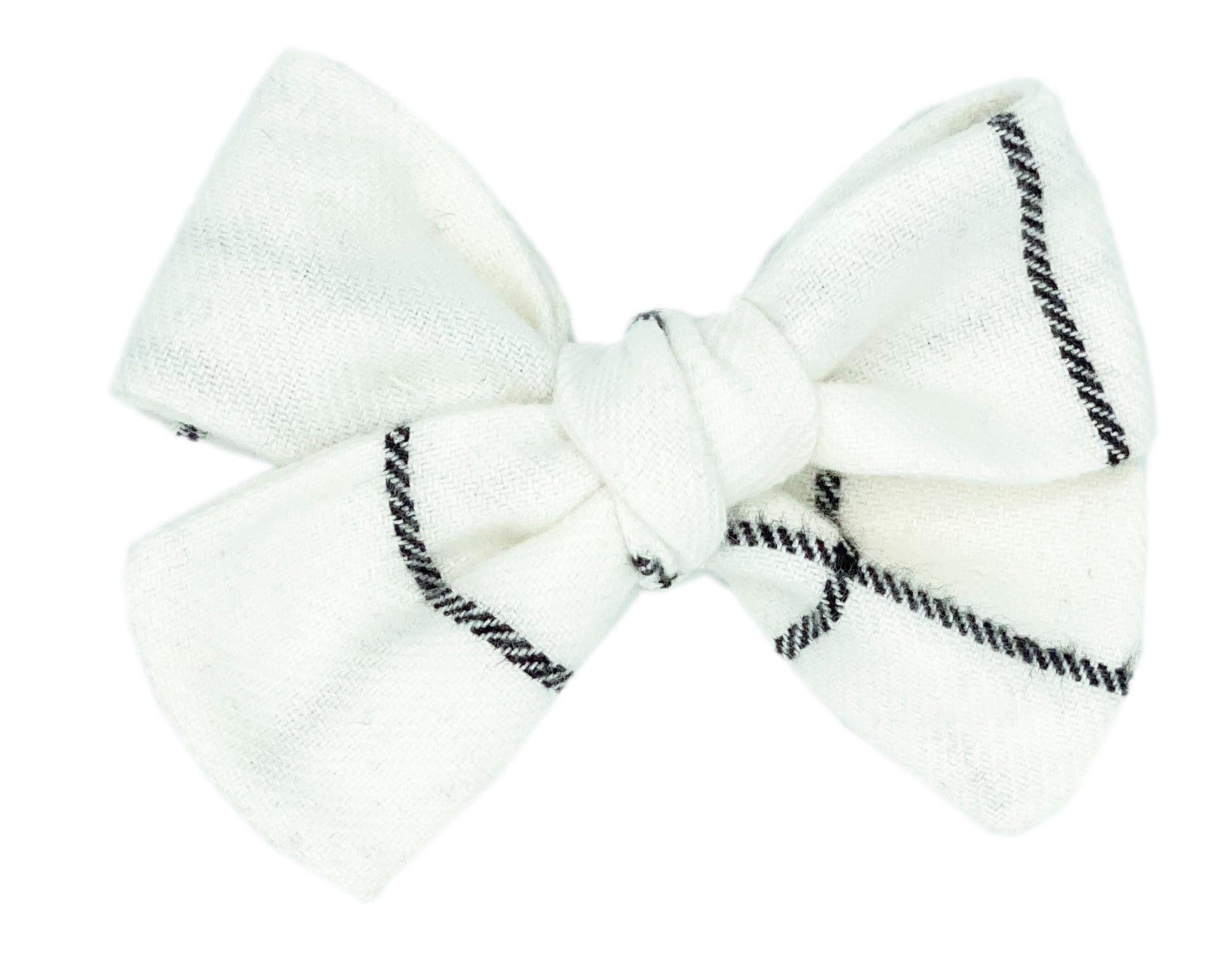 Black and White Plaid Bow