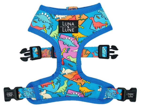 Retro Dino Reversible Dog Harness