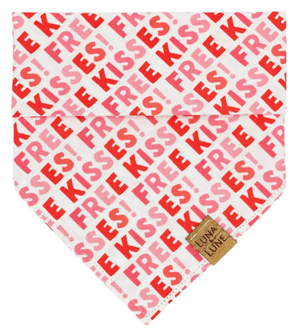 Free Kisses Dog Bandana