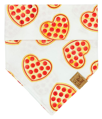 A Pizza My Heart Dog Bandana