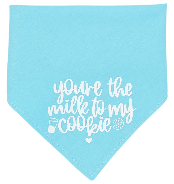 You're The Milk To My Cookie Reversible Dog Bandana