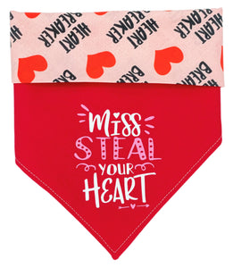 Miss Steal Your Heart Reversible Dog Bandana