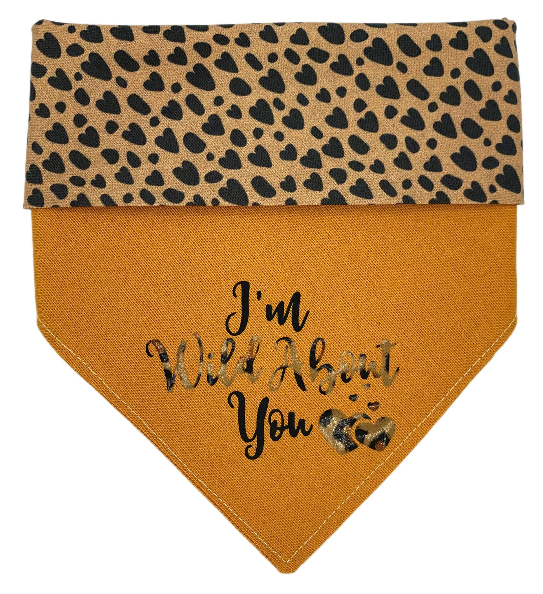 I'm Wild About You Reversible Dog Bandana