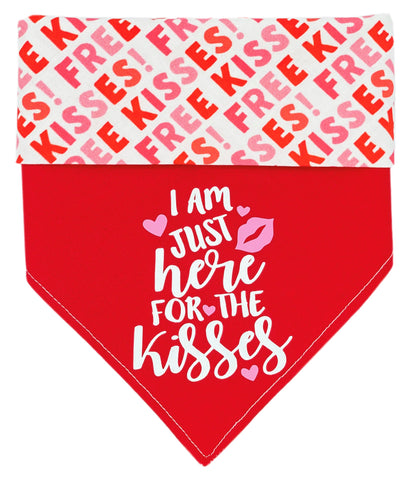 Here For The Kisses Reversible Dog Bandana