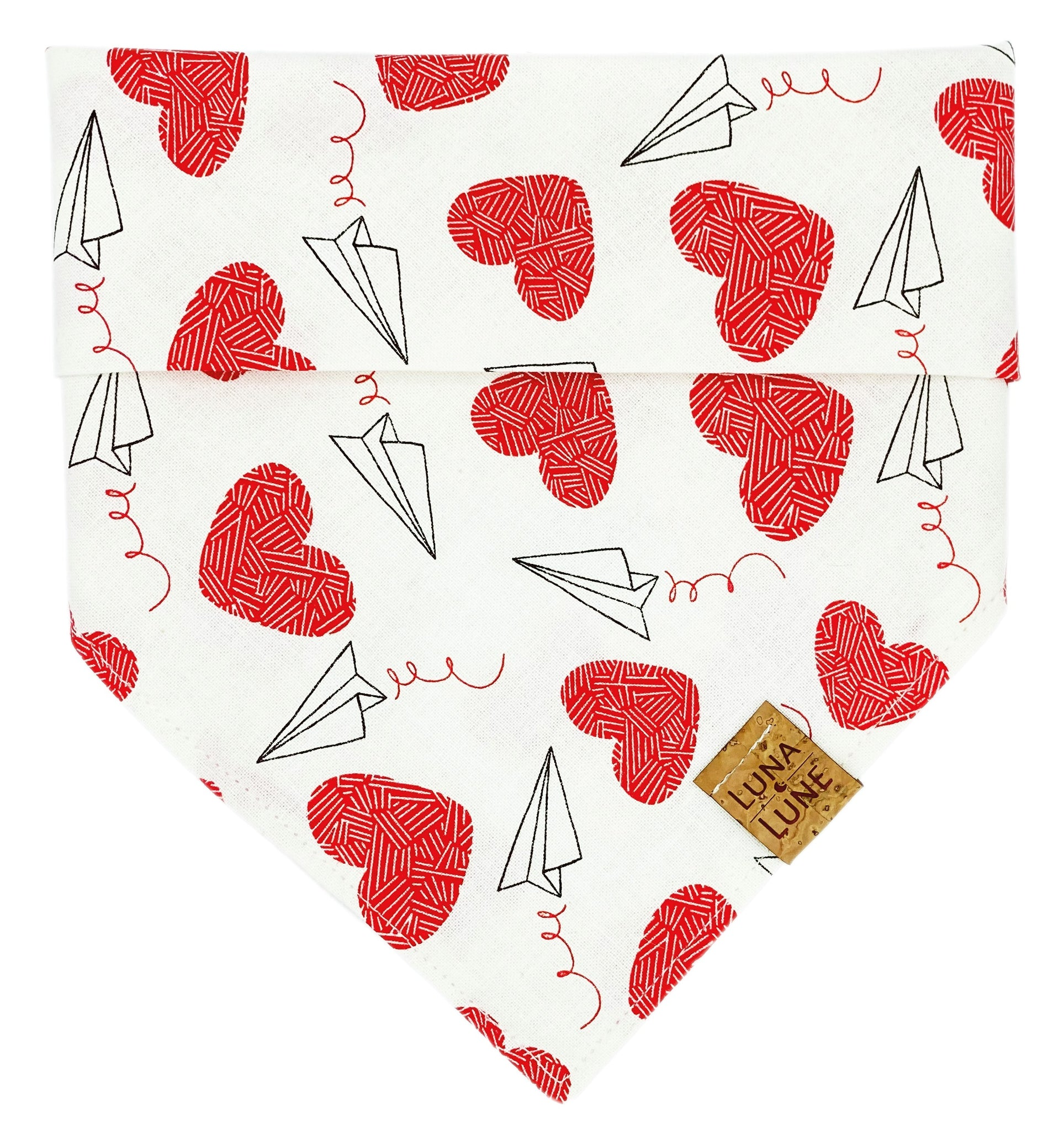 Love Is In The Air Dog Bandana