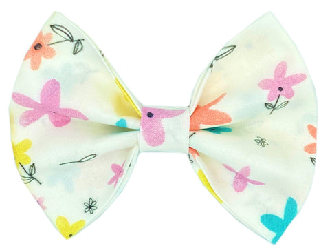 Colorful Floral Bow Tie