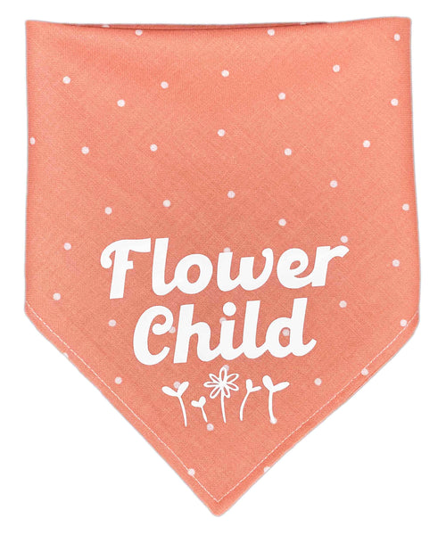 Flower Child Reversible Dog Bandana