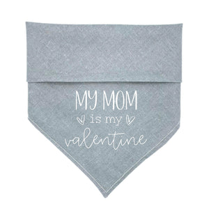 Graphite Heather Match Your Pup Dog Bandana