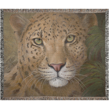 Load image into Gallery viewer, Predator or Prey Leopard Woven Blanket