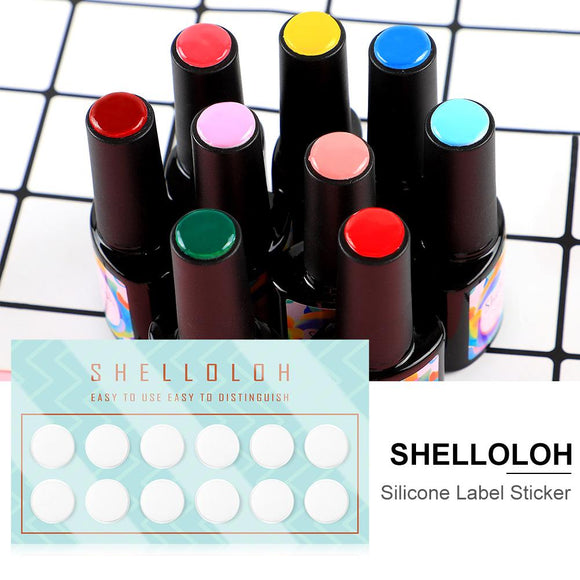 Shelloloh 12Pcs Color Charts Silicone Nail Art Display