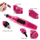 Shelloloh Professional Electric Nail Drill Machine Kit Nail File Pen Manicure Tools Nail Art