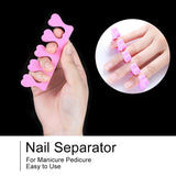 Shelloloh Nail Art Tools Cuticle Oil Nail File Decoration False Nail Glue Remover Finger Separators Manicure