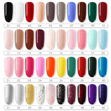 Shelloloh Nail Gel Polish 10Pcs Nail Art Kit 24W UV/LED Lamp Top Coat Base Coat Nail Decoration Manicure Nail Care