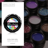 Shelloloh UV Nail Gel Soak Off Gel Nail Art 5ml 30 Colors UV Nail Gel Polish Glitter Gel Home DIY Easy To Use Suitable For Beginners