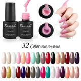 Shelloloh 6/8/10 Colors Gel Polish 7ml Nail Varnish Nail Art Set