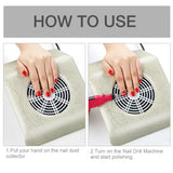 Shelloloh Nail Art Dust Suction Collector 25W 110V/220V Nail Vacuum Cleaner Manicure Nail Art Tool