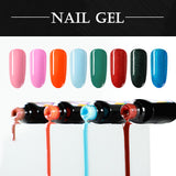 Shelloloh 8Pcs Nail Gel 36W Nail Lamp Nail Drill Machine Complete Kit Rhinestone Decorations In Stock Top Base Coat
