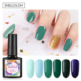 Shelloloh Nail Gel 8 Colors Glitter Gel 36W Nail Lamp Top Base Coat Nail Drill Machine Rhinestone Nail Sticker Decoration