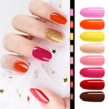 Shelloloh 8 Colors Nail Gel Glitter Gel Nail Drill Machine 36W LED UV Nail Lamp Top Base Coat 10ml Manicure Tool Decorations