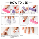 Shelloloh Cuticle Oil Nail File Nail Display Nail Gel Remover Nail Cleaning Wipe Finger Separators Nail Art Tools Manicure Set
