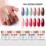 Shelloloh Dipping Powder Nails Set 12 Colors Pure Color Long Lasting Starter Set Fast Setting No Need to Cure