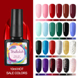 Shelloloh Nail Gel Polish 10ml  Nail Gel 40 Colors for Choose Nail Art Varnish Long Lasting