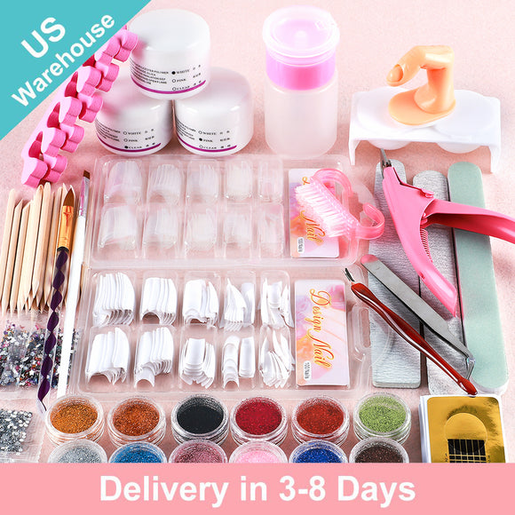 Shelloloh Acrylic Powder Kit Fake Nail Strass Nail Module Decoration Manicure(Only for US Delivery)