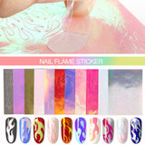 Shelloloh Nail Decor Flame Stickers Decals Nail Accessories