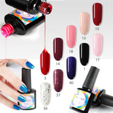 Shelloloh 6 Colors Nail Gel 36W Nail Lamp Nail Drill Machine Manicure Decoration Kit In Stock