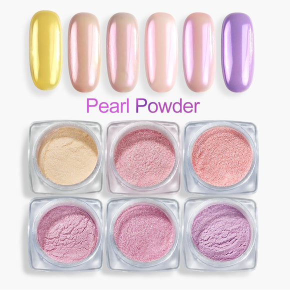 Pearl Powder Nail Glitter Powder Magic Mirror Nail Powder Chrome Pigment Set