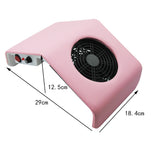 Shelloloh Nail Art Dust Suction Collector 30W 110V/220V Nail Vacuum Cleaner Manicure Nail Art Tool