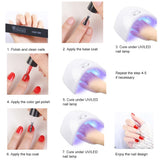 Shelloloh 10 Colors Nail Gel Soak Off Gel Nail Lamp Nail Art Decoration