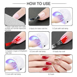 Shelloloh 10Pcs Nail Gel Polish Kit 10ml Nail Lamp Nail Drill Manicure (Only for US Delivery)