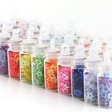 Shelloloh 48 Colors Of Glass Bottle Glitter Decorations Nail Art Decal Manicure DIY Tools