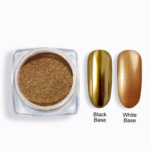 Shelloloh Mirror Powder Rose Gold Color Golden Color 10 Colors Glittering Powder Pigment Nail Art Dust Base Needed