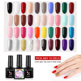 Shelloloh 10ml Glass Bottle Primer Base Coat Top Coat Set Nail Gel Polish Kit