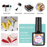 Shelloloh 10ml Nail Gel Glass Bottle 8 Color Soak Off Gel Manicure Tools Nail Lamp Nail Art Decorations Kit