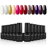 Shelloloh 7ml Nail Gel Polish 8/10/12 pcs Nail Varnish Nail Art Set