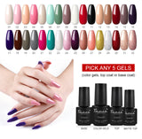 Shelloloh 7ml Pure Color Gel Polish 32 Colors For Choose