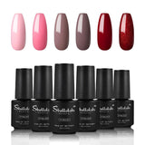 Shelloloh 6/8/10 pcs Nail Gel Polish 7ml Nail Varnish Nail Art Set