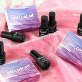 Shelloloh Nail Gel 10 Colors Kit Top Base Coat Nail Lamp Nail Art Decoration Kit Manicure Tools Kit Pure Glitter Color