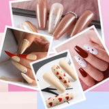 Shelloloh Nail Gel Soak Off Gel 4/5pc Set Pure Color Easy To Use Long Lasting Set Home Use