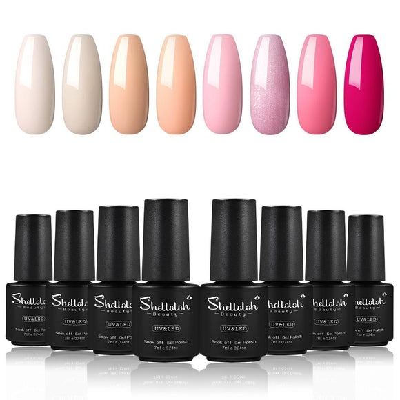 Shelloloh 8/10/12 pcs Nail Gel Polish 7ml Nail Varnish Nail Art Set