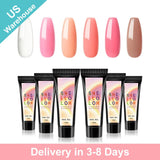 Shelloloh 6Pcs Poly Gel Kit 15ml Quick Builder Gel Nail Lamp 30ml Cleanser Plus  (Only for US Delivery)